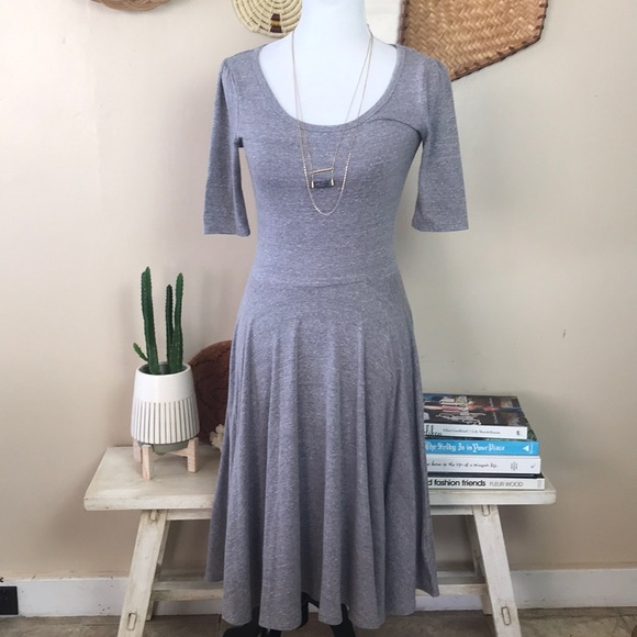LuLaRoe Dresses & Skirts - Lularoe Gray Nicole Dress